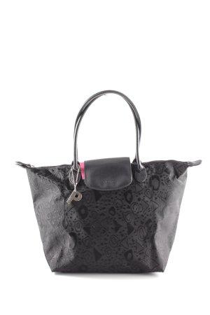 d5e3897bf4773 Picard Minitasche schwarz abstraktes Muster Casual-Look