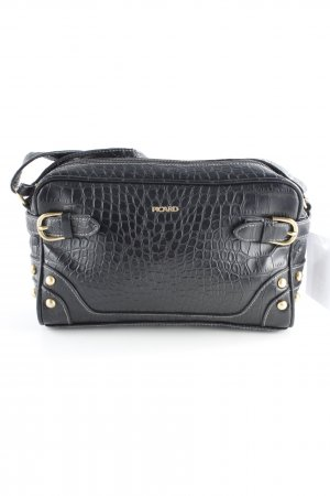 Picard Mini Bag black-gold-colored animal pattern casual look