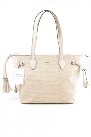 Picard Shopper dunkelbraun-nude Animalmuster Animal-Look