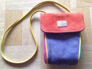 Picard Vintage Mini Handtasche bunt echt Leder Boho 19cm hoch x 14cm breit