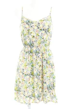 Pieces A-Linien Kleid abstraktes Muster Romantik-Look