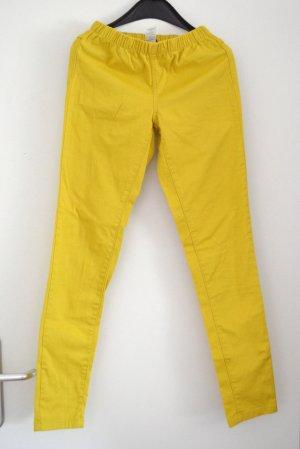 Pieces Leggings amarillo oscuro Algodón