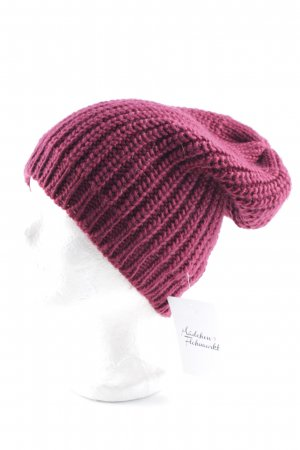 Pieces Beanie bordeauxrot Casual-Look