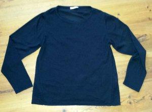 Pieces Betsy Pullover Materialmix schwarz Gr. L 1x getragen Top
