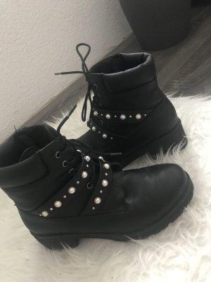 Pieces Boots mit Perlen