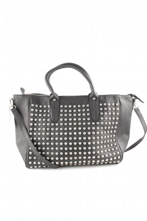 Pieces Borsa da bowling nero stile casual