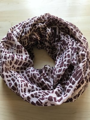 Pieces Tube Scarf oatmeal-dark violet