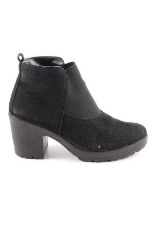 Pieces Chelsea Boot noir style décontracté