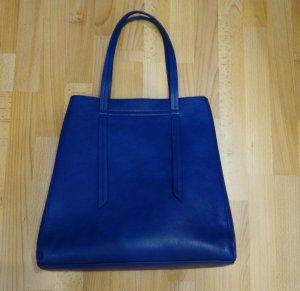 Pieces Clean Chic Shopper Tasche blau indigo Retro Look Blogger
