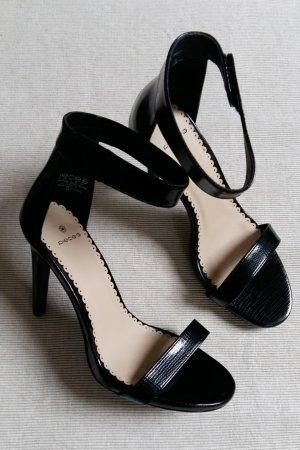Pieces Damen Sandaletten Schwarz Lack