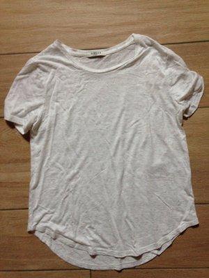 Pieces Damen T-Shirt Größe S weiß mit silbernen Glitzerfäden