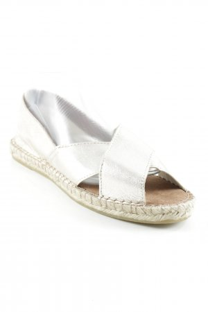 Pieces Espadrille Sandals silver-colored beach look
