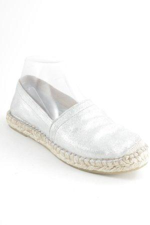 Pieces Espadrillas argento-beige stile casual