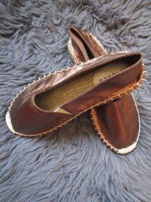 Pieces Espadrille Sandals bronze-colored