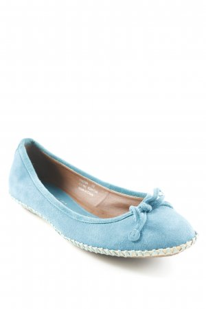 Pieces faltbare Ballerinas kadettblau Casual-Look