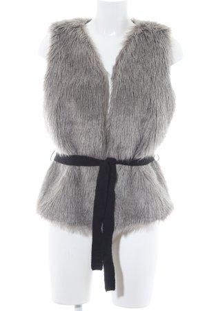 Pieces Smanicato di pelliccia grigio chiaro-nero stile casual