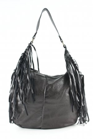 Pieces Borsa con frange marrone scuro Stile Boho