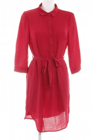 Pieces Hemdblusenkleid himbeerrot Casual-Look