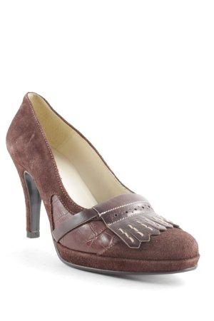 Pieces High Heels braun-creme klassischer Stil
