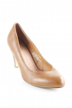 Pieces High Heels cognac Business-Look