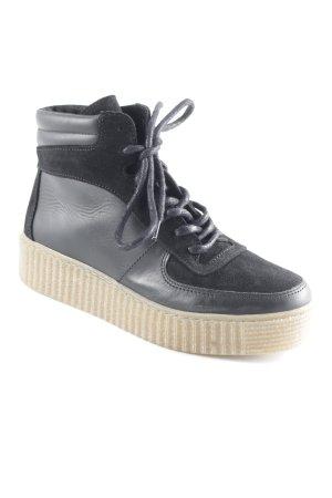 Pieces High Top Sneaker schwarz-beige Casual-Look