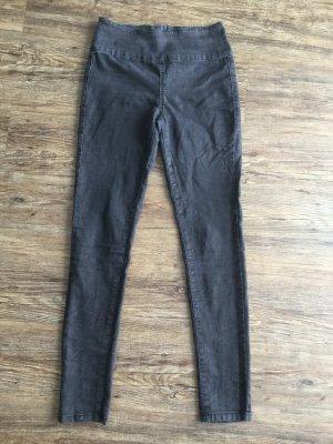 Pieces Jeans / Hose Gr. M/L anthrazit mit Schlangenlederprint