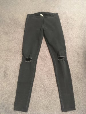 Pieces Jeggings dunkelgrau Gr. S/M Kneecut
