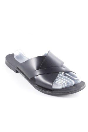 Pieces Sandalias cómodas negro-gris antracita estilo sencillo