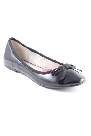 Pieces Lackballerinas schwarz Lack-Optik