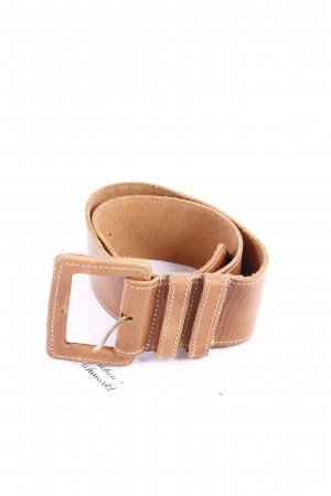 Pieces Leather Belt cognac-coloured Boho look