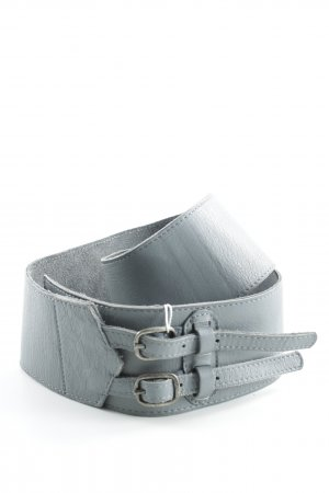 Pieces Leather Belt light grey extravagant style