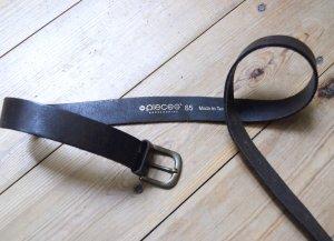 Pieces Ledergürtel Hüftgürtel für Jeans Braun Gold 85 cm