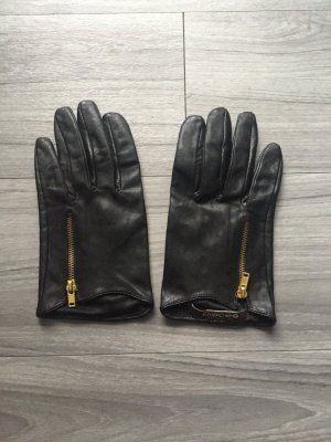 Pieces Leather Gloves black