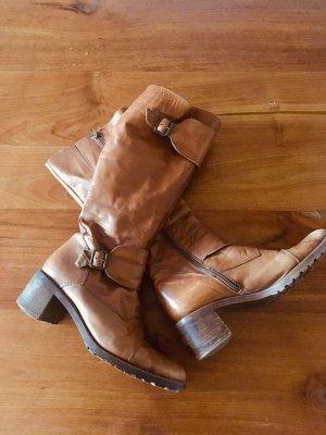 Pieces * Lederstiefel Stiefel Leder * 38