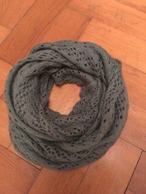 Pieces Loop-Schal petrol aus Strick