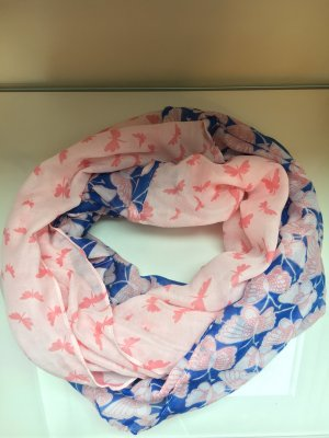 Pieces Tube Scarf pink-steel blue