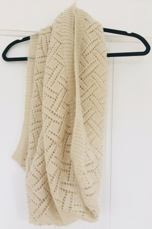 PIECES Loop-Schal Strickschal Tuch Schal beige