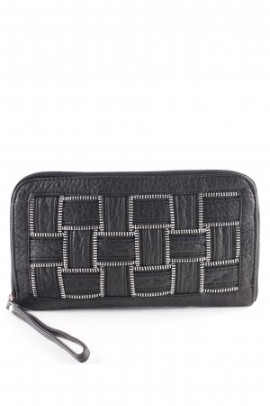 Pieces Pochette schwarz Biker-Look