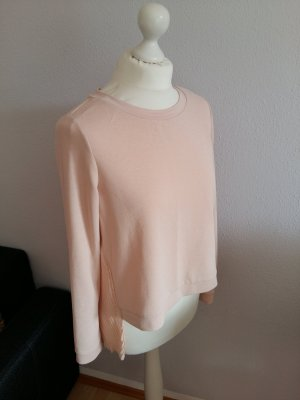 Kraagloze sweater nude