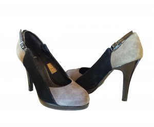 Pieces High Heels multicolored imitation leather