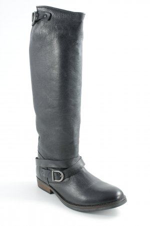 Pieces Jackboots black casual look