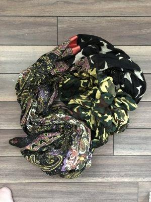 Pieces Schal mit drei verschiedenen Mustern