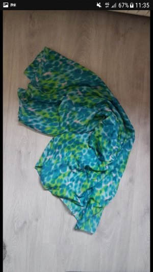 Pieces Tube Scarf blue-green