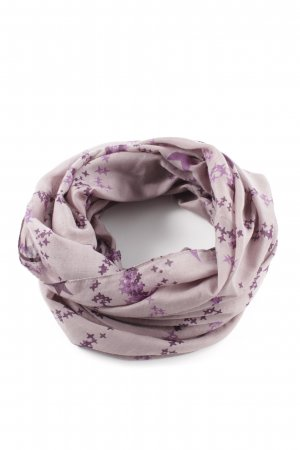 Pieces Tubesjaal mauve-lila Sterrenpatroon casual uitstraling