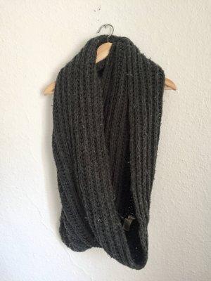 Pieces Gebreide sjaal antraciet-donkergrijs