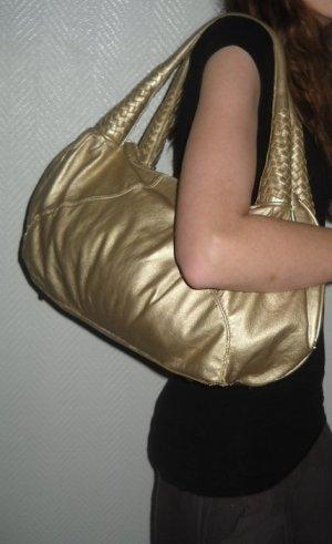 Pieces Schulter Henkel Tasche Party Shopper Bag gold farben h m Flechthenkel XXL