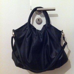 Pieces_schwarze Tasche aus Kunstleder