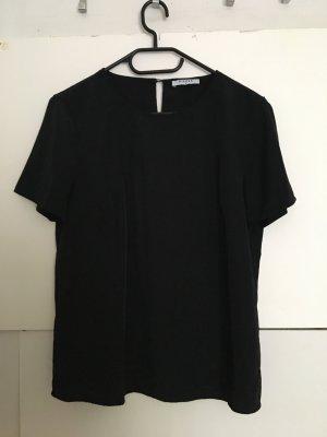 Pieces Shirt Bluse M schwarz