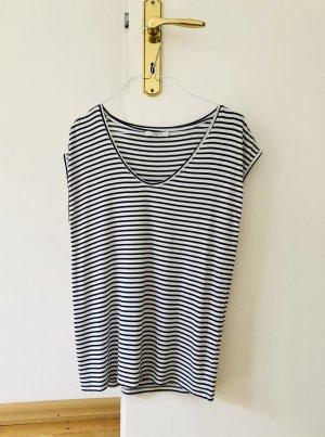 Pieces Shirt S 36 gestreift Ringelshirt schwarz weiß