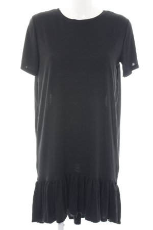 Pieces Shirtkleid schwarz Business-Look